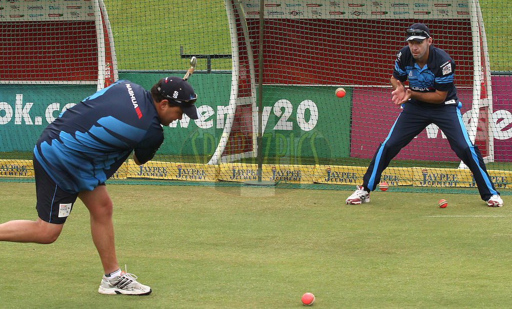 Titans captain Martin van Jaarsveld during the Titans practice session held as part of the  Karbonn Smart CLT20 South Africa held at Supersport Park Stadium in Centurion, South Africa on the 25rd October 2012..Photo by Shaun Roy/SPORTZPICS/CLT20