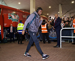 NEWCASTLE-UPON-TYNE, ENGLAND - Saturday, May 4, 2019: Liverpool's Georginio Wijnaldum arrives ahead of the FA Premier League match between Newcastle United FC and Liverpool FC at St. James' Park. (Pic by David Rawcliffe/Propaganda)