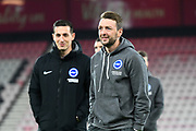 Dale Stephens (6) of Brighton and Hove Albion on the pitch on arrival ahead of the Premier League match between Bournemouth and Brighton and Hove Albion at the Vitality Stadium, Bournemouth, England on 21 January 2020.