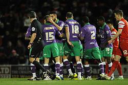 Bristol City's Luke Freeman celebrates his goal with team mates - Photo mandatory by-line: Dougie Allward/JMP - Mobile: 07966 386802 - 03/03/2015 - SPORT - football - Leyton - Brisbane Road - Leyton Orient v Bristol City - Sky Bet League One