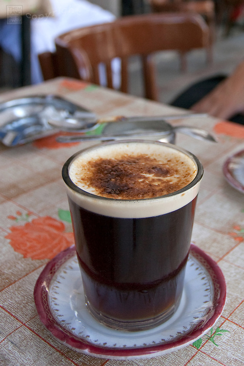 Turkish coffee in an Egyptian cafe