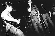 Joy Division performing at the Moonlight Club, West Hampstead, London 1981