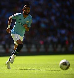 Cation Correction *Riyad Mahrez of Manchester City  - Mandatory by-line: Alex James/JMP - 05/08/2018 - FOOTBALL - Wembley Stadium - London, England - Manchester City v Chelsea - FA Community Shield