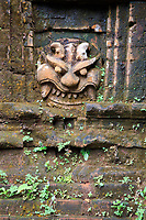 An ancient carving in the grounds of the Hindu temple complex of My Son in central Vietnam