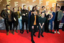 "Glasgow Film Festival, Sunday 3rd March 2019<br /> <br /> UK Premiere of ""Beats""<br /> <br /> Pictured: Cast and crew group shot<br /> <br /> Alex Todd 