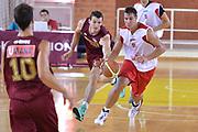 DESCRIZIONE : Viadana Trofeo del 50' esimo Lega A 2014-15 Dinamica Mantova Umana Venezia<br /> GIOCATORE : Rullo Roberto<br /> CATEGORIA : Palleggio contropiede<br /> SQUADRA : Dinamica Mantova<br /> EVENTO :Torneo del 50'esimo<br /> GARA : Dinamica Mantova Umana Venezia<br /> DATA : 13/09/2014 <br /> SPORT : Pallacanestro <br /> AUTORE : Agenzia Ciamillo-Castoria/I.Mancini<br /> Galleria : Lega Basket A 2014-2015 Fotonotizia : Torneo del 50'esimo Lega A 2014-15 Dinamica Mantova Umana Venezia <br /> Predefinita :