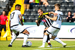 Kasey Palmer of Derby County takes on Tom Huddlestone and Timi Elsnik of Derby County - Mandatory by-line: Robbie Stephenson/JMP - 14/07/2018 - FOOTBALL - Meadow Lane - Nottingham, England - Notts County v Derby County - Pre-season friendly