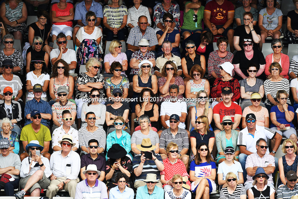 Fans at the ASB Classic. WTA Womens Tournament. ASB Tennis Centre, Auckland, New Zealand. Tuesday 3 January 2017. © Copyright photo: Andrew Cornaga / www.photosport.nz