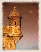 El Morro sentry box painting