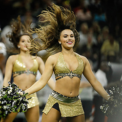 Aug 31, 2017; New Orleans, LA, USA; New Orleans Saints Saintsations cheerleaders perform during the first half of a preseason game against the Baltimore Ravens at the Mercedes-Benz Superdome. Mandatory Credit: Derick E. Hingle-USA TODAY Sports