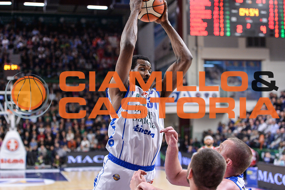 Gani Lawal<br /> Banco di Sardegna Dinamo Sassari - The Flexx Pistoia Basket<br /> Legabasket Serie A LBA Poste Mobile 2016/2017<br /> Sassari 04/03/2017