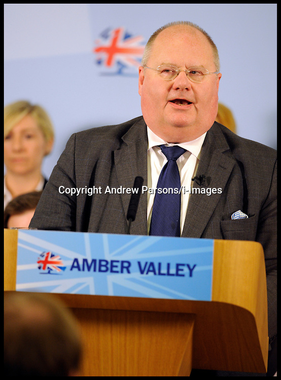 Eric Pickles at the Local elections launch in Afreton, Monday April 16, 2012. Photo By Andrew Parsons/I-images