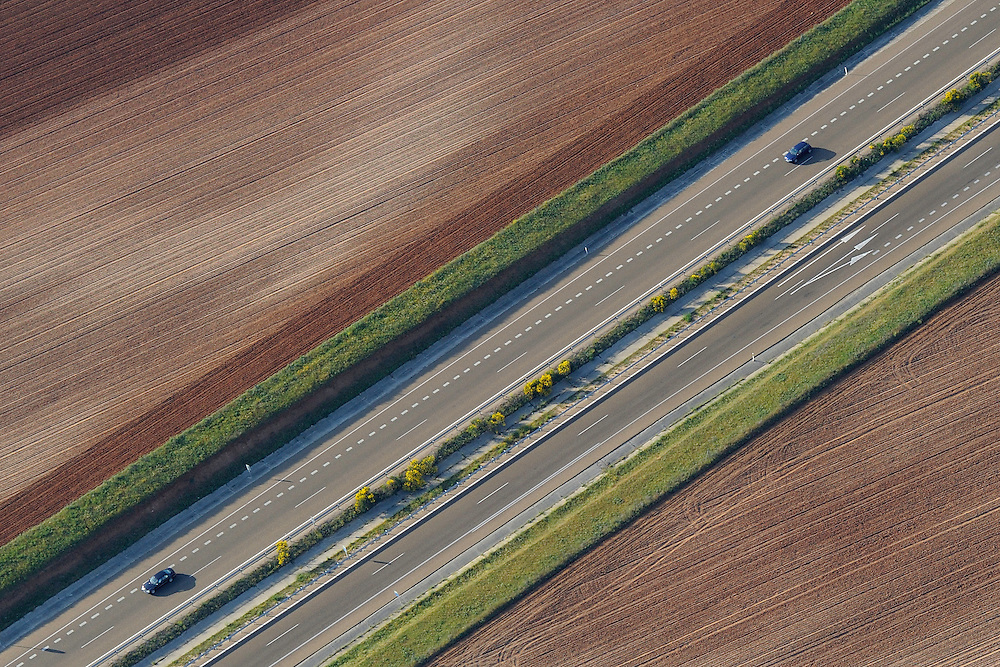 Aerial image<br /> motorways Salamanca Region, Castilla y Le&oacute;n, Spain