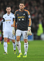 Swansea City's Angel Rangel - Photo mandatory by-line: Alex James/JMP - Tel: Mobile: 07966 386802 03/11/2013 - SPORT - FOOTBALL - The Cardiff City Stadium - Cardiff - Cardiff City v Swansea City - Barclays Premier League
