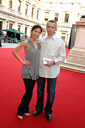 VANESSA MAE and LIONEL CATALAN at the Royal Academy of Art Summer Exhibition Preview Party on 4th June 2008.<br /><br />NON EXCLUSIVE - WORLD RIGHTS
