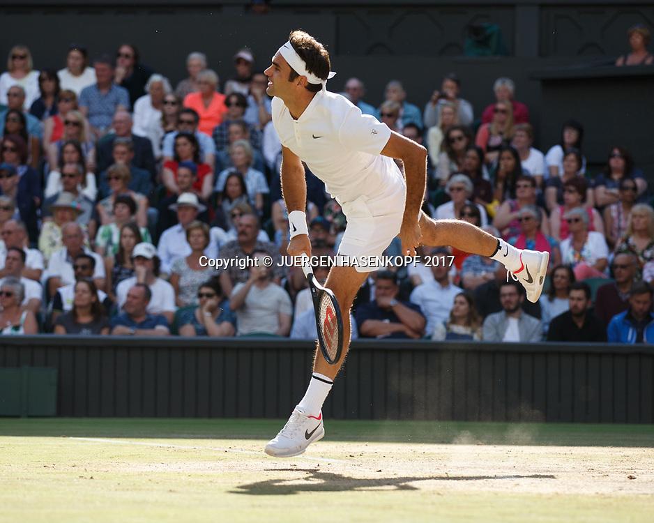 ROGER FEDERER (SUI)<br /> <br /> Tennis - Wimbledon 2017 - Grand Slam ITF / ATP / WTA -  AELTC - London -  - Great Britain  - 14 July 2017.