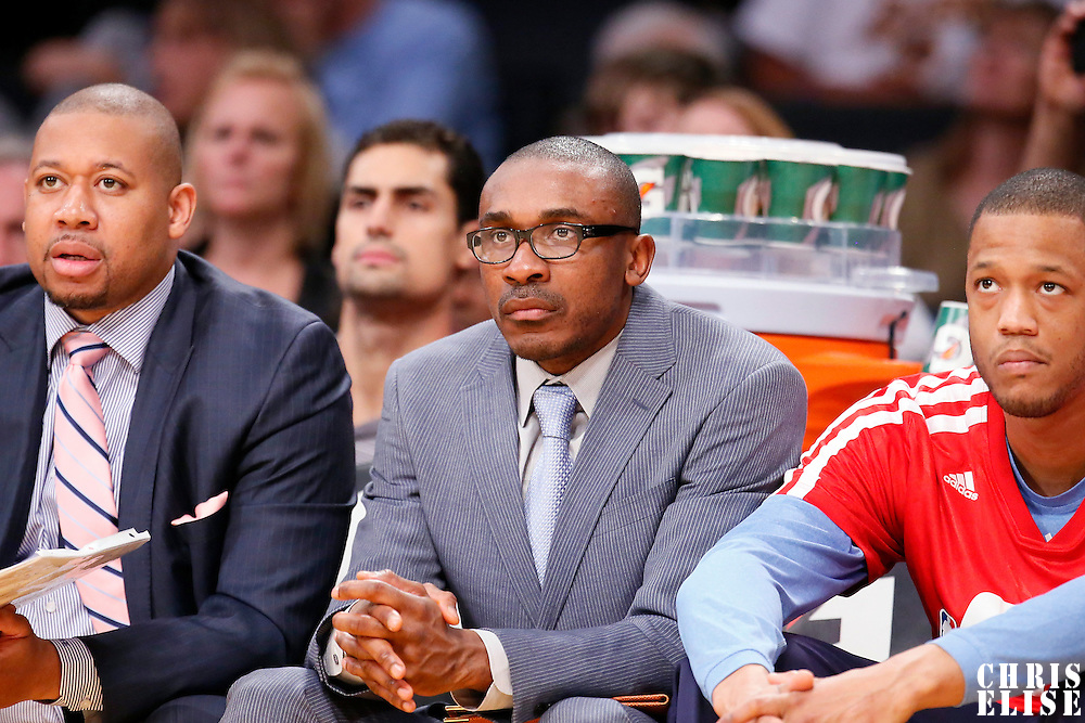 05 January 2014: Denver Nuggets Assistant Coach Patrick Mutombo is seen during the Denver Nuggets 137-115 victory over the Los Angeles Lakers at the Staples Center, Los Angeles, California, USA.