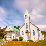 Church overlooking Roslyn, WA