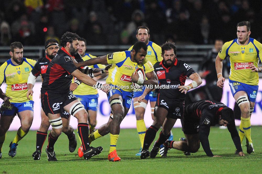 Lionel Nallet / Naipolioni Nalaga - 28.12.2014 - Lyon Olympique / Clermont - 14eme journee de Top 14 <br />Photo : Jean Paul Thomas / Icon Sport