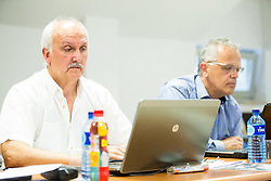 Janez Bodicar and Branko Krasevec during meeting of Executive Committee of Ski Association of Slovenia (SZS) on June 16, 2015 in Ljubljana, Slovenia. Photo by Vid Ponikvar / Sportida