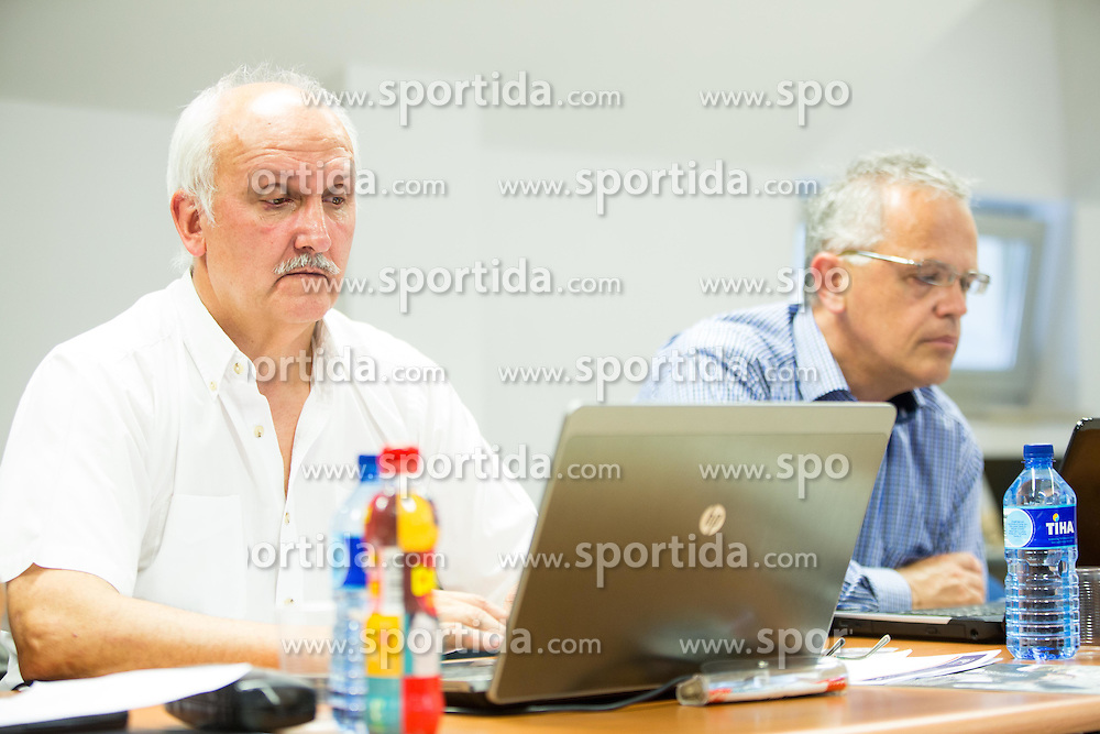 Janez Bodicar and Branko Krasevec during meeting of Executive Committee of Ski Association of Slovenia (SZS) on June 16, 2015 in Ljubljana, Slovenia. Photo by Vid Ponikvar / Sportida