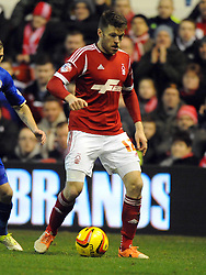 JAMIE MACKIE NOTTINGHAM FOREST, Nottingham Forest v Leicester City, City Ground Nottingham,  Sky Bet Championship, 19th Febuary 2014