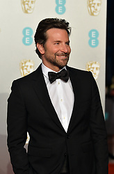 February 11, 2019 - London, New York, United Kingdom of Great Britain and Northern Ireland - Bradley Cooper arriving at the EE British Academy Film Awards on at the Royal Albert Hall on February 10 2019 in London, England  (Credit Image: © Famous/Ace Pictures via ZUMA Press)