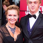 NLD/Utrecht/20130922 - Premiere Jersey Boys, Mariska van Kolck en zoon
