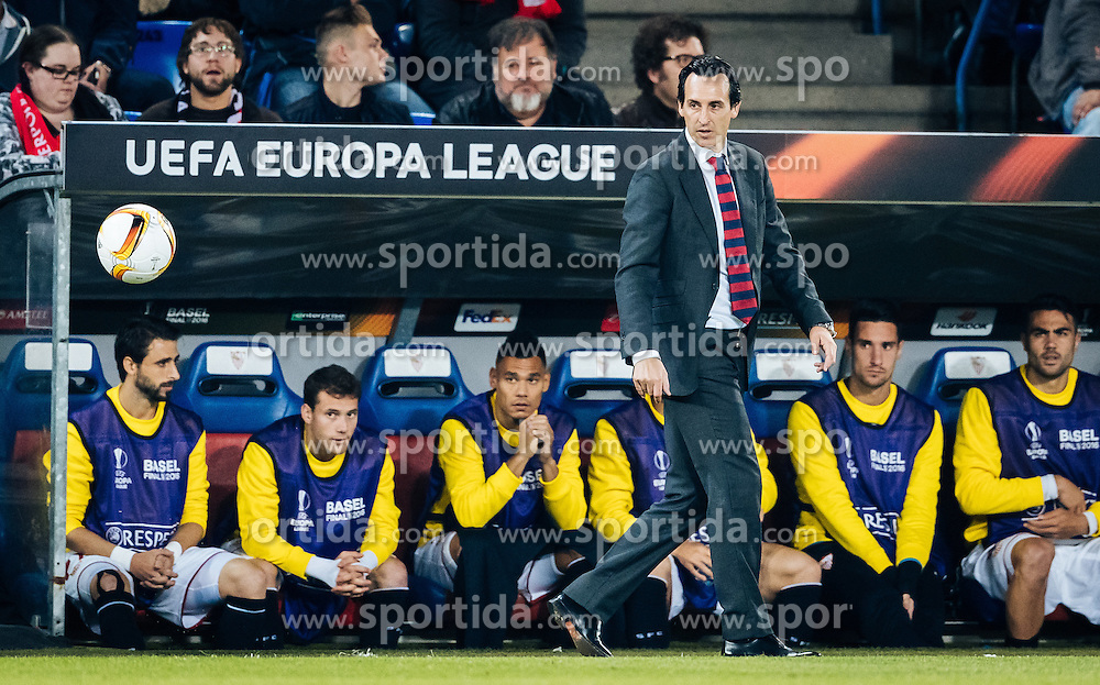 18.05.2016, St. Jakob Park, Basel, SUI, UEFA EL, FC Liverpool vs Sevilla FC, Finale, im Bild Trainer Unai Emery (FC Sevilla) // Trainer Unai Emery (FC Sevilla) during the Final Match of the UEFA Europaleague between FC Liverpool and Sevilla FC at the St. Jakob Park in Basel, Switzerland on 2016/05/18. EXPA Pictures © 2016, PhotoCredit: EXPA/ JFK