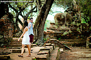 Ayutthaya Thailand - American Couple's prewedding (prenuptial, engagement session) at Wat Phra Si Sanphet &amp; Ayutthaya Historical Park in Ayutthaya, Thailand.<br /> <br /> Photo by NET-Photography<br /> Ayutthaya Thailand Wedding Photographer<br /> info@net-photography.com<br /> <br /> View this album on our website at http://thailand-wedding-photographer.com/ayutthaya-engagement-session-wedding-couple-america-canada/?utm_source=photoshelter&amp;utm_medium=link&amp;utm_campaign=photoshelter_photo