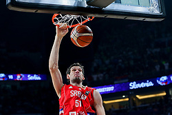 Boban Marjanovic of Serbia during the Final basketball match between National Teams  Slovenia and Serbia at Day 18 of the FIBA EuroBasket 2017 at Sinan Erdem Dome in Istanbul, Turkey on September 17, 2017. Photo by Vid Ponikvar / Sportida
