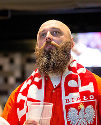 A Poland fans watches his nations fixture with Germany on the big screen in the Sports Bar and Grill at Ashton Gate- Mandatory by-line: Robbie Stephenson/JMP - 16/06/2016 - FOOTBALL - Ashton Gate - Bristol, United Kingdom  - Germany vs Poland - UEFA Euro 2016