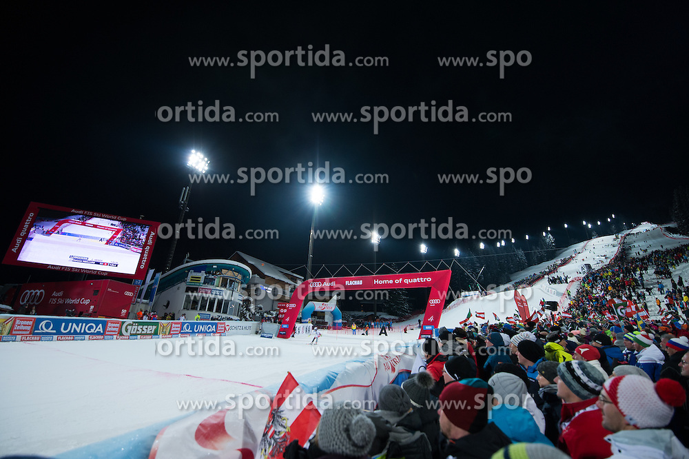 Finish of Hermann Maier Weltcupstrecke during the 7th Ladies' Slalom of Audi FIS Ski World Cup 2016/17, on January 10, 2017 at the Hermann Maier Weltcupstrecke in Flachau, Austria. Photo by Martin Metelko / Sportida