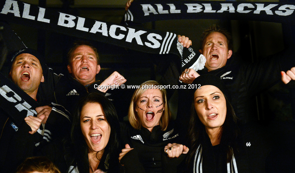 Model Released All Blacks fans and supporters, Auckland, New Zealand 7 July 2012. Photo: Photosport.co.nz