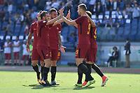 Esultanza Gol Edin Dzeko Roma Goal celebration <br /> Roma 23-09-2017 Stadio Olimpico Calcio Serie A 2017/2018 AS Roma - Udinese Foto Andrea Staccioli / Insidefoto