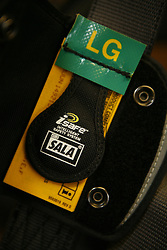 UK ENGLAND GREENFIELD 21MAR12 - Isafe tag on an Exofit harness before inspection at the Capital Safety training facility in Greenfield, Greater Manchester...jre/Photo by Jiri Rezac..© Jiri Rezac 2012