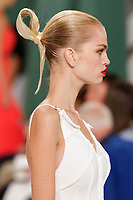 Daphne Groeneveld walks the runway wearing Carolina Herrera Spring 2015 during Mecedes-Benz Fashion Week in New York on September 8th, 2014
