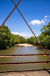 Dillon Road Bridge - Tazewell County Illinois<br /> <br /> Overview<br /> Through truss bridge over Mackinaw River on Dillon Rd NE of Green Valley<br /> Location<br /> Tazewell County, Illinois<br /> Status<br /> Derelict/abandoned<br /> Future prospects<br /> Slated for demolition and replacement in 2018.<br /> Design<br /> Main span: Pin-connected, 12-panel Pratt through truss<br /> Dimensions<br /> Length of largest span: 200.0 ft.<br /> Total length: 253.8 ft.<br /> Deck width: 15.7 ft.<br /> Vertical clearance above deck: 18.1 ft.