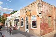 Nuance Chocolate shop and Welsh Rabbit Cheese shop in the Old Town historic shopping and restaurant district in Fort Collins, Colorado.