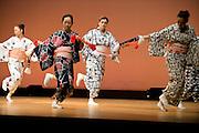 Foriegn geisha Fukutaro from Romania rehearses a dance prior to her debut stage performance at the Ayame, Genji festival in Izu-Nagaoka, Shizuoka Prefecture, Japan..Photographer: Robert GilhoolyForiegn geisha Fukutaro from Romania rehearses a dance prior to her debut stage performance at the Genji Ayame festival in Izu-Nagaoka, Shizuoka Prefecture, Japan on 30 June, 2011..Photographer: Robert Gilhooly