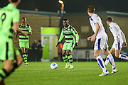 Forest Green Rovers Drissa Traoré(4) on the ball during the Vanarama National League match between Forest Green Rovers and Tranmere Rovers at the New Lawn, Forest Green, United Kingdom on 22 November 2016. Photo by Shane Healey.