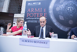 July 25, 2018 - Rome, Italy - The Minister for Cultural Heritage and Activities Alberto Bonisoli..Presentation to the press of the exhibition ''ARMI E POTERE in the Europe of the Renaissance ''inside Castel Sant'Angelo in Rome (Credit Image: © Matteo Nardone/Pacific Press via ZUMA Wire)