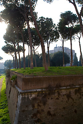 The outer defensive walls of the Vatican, Rome, Italy, December 1, 2007.