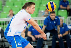 Jani Kovacic of Slovenia during volleyball match between National teams of Slovenia and Portugal in 2nd Round of 2018 FIVB Volleyball Men's World Championship qualification, on May 26, 2017 in Arena Stozice, Ljubljana, Slovenia. Photo by Vid Ponikvar / Sportida