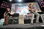 Mastodon performing at the Rockstar Mayhem Festival in St. Louis. July 23, 2008. © Todd Owyoung/Retna Ltd.