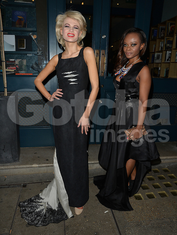 Chloe Jasmin has a girls night out at the Library Club, following split up with Stevie Richie. London, UK. 19/04/2016<br />