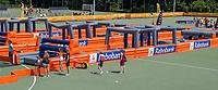AMSTELVEEN - Opblaasbare hindernisbaan .  Rabobank en Sportways bij  de Pro League hockeywedstrijden.   COPYRIGHT  KOEN SUYK