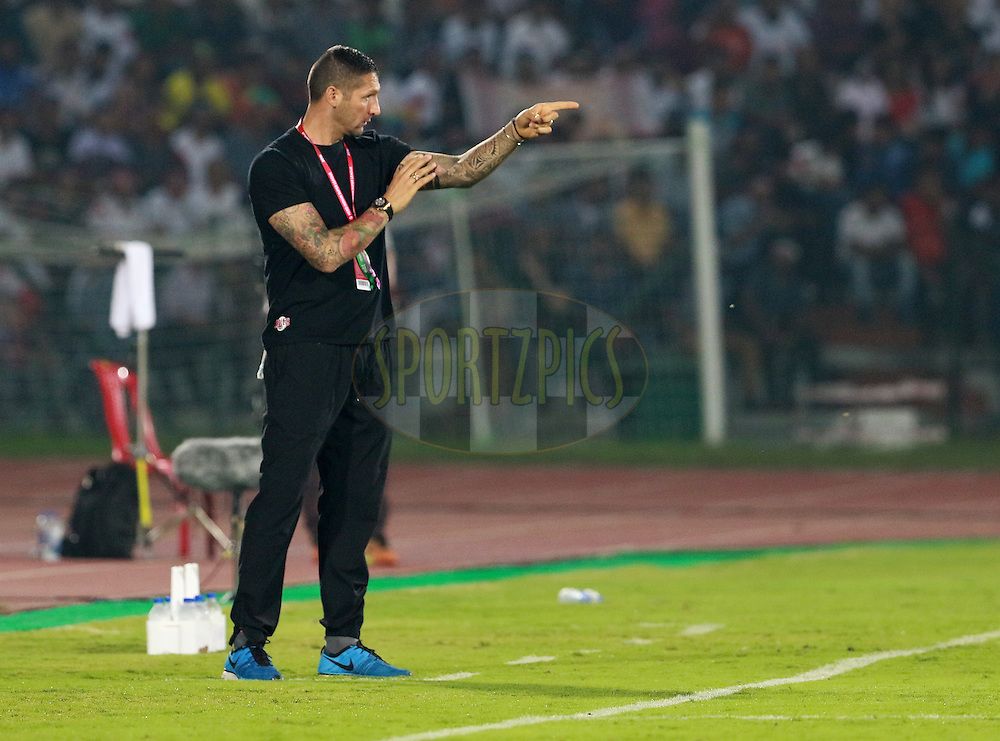Chennaiyin FC coach Marco Materazzi during match 18 of the Indian Super League (ISL) season 3 between NorthEast United FC and Chennaiyin FC held at the Indira Gandhi Athletic Stadium in Guwahati, India on the 20th October 2016.<br /> <br /> Photo by Vipin Pawar / ISL/ SPORTZPICS