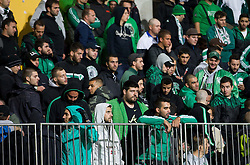 Fans of Panathinaikos after the football match between NK Maribor and Panathinaikos Athens F.C. (GRE) in 1st Round of Group Stage of UEFA Europa league 2013, on September 20, 2012 in Stadium Ljudski vrt, Maribor, Slovenia. Maribor defeated Panathinaikos 3-0. (Photo By Vid Ponikvar / Sportida)