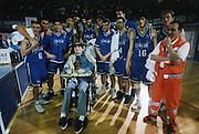 Staff Tecnico 1997-1998<br /> team<br /> pozzecco, tonolli, bonora, de pol, alberti, meneghin, scarone, marconato, basile, sambugaro